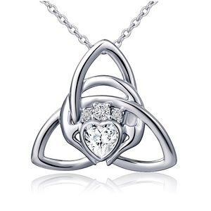 925 Sterling Silver Irish ☘️ Celtic Pendant &Chain